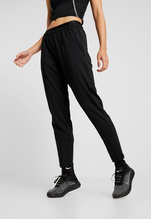 TRACK PANT - Tracksuit bottoms - black/reflective silver