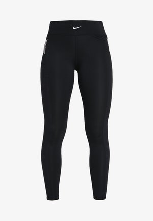 CAPSULE  AERO ADAPT - Leggings - black/metallic silver