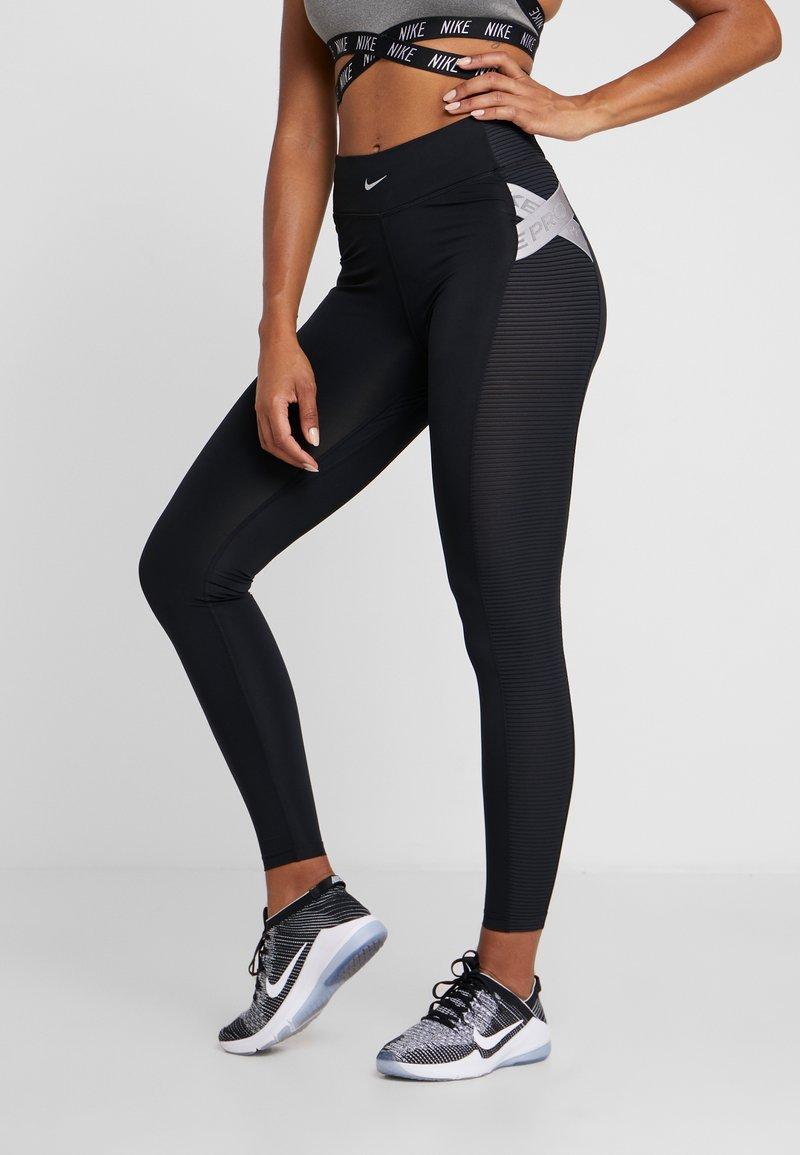 Nike Performance - CAPSULE  AERO ADAPT - Tights - black/metallic silver