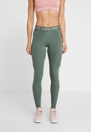 FIERCE TIGHT - Leggings - juniper fog/metallic gold