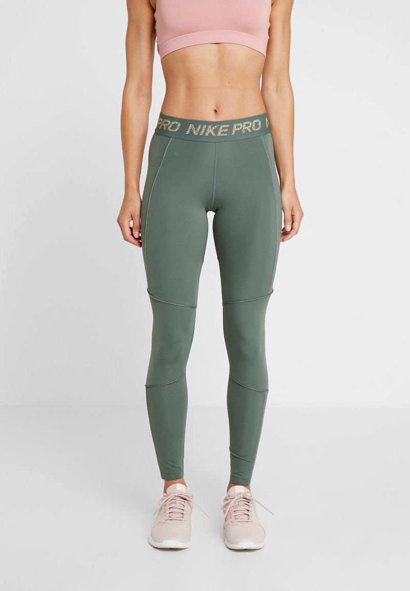 Nike Performance - FIERCE TIGHT - Leggings - juniper fog/metallic gold