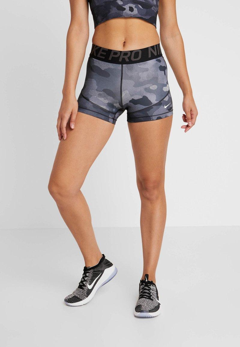 Nike Performance - REBEL CAMO - Tights - black/white