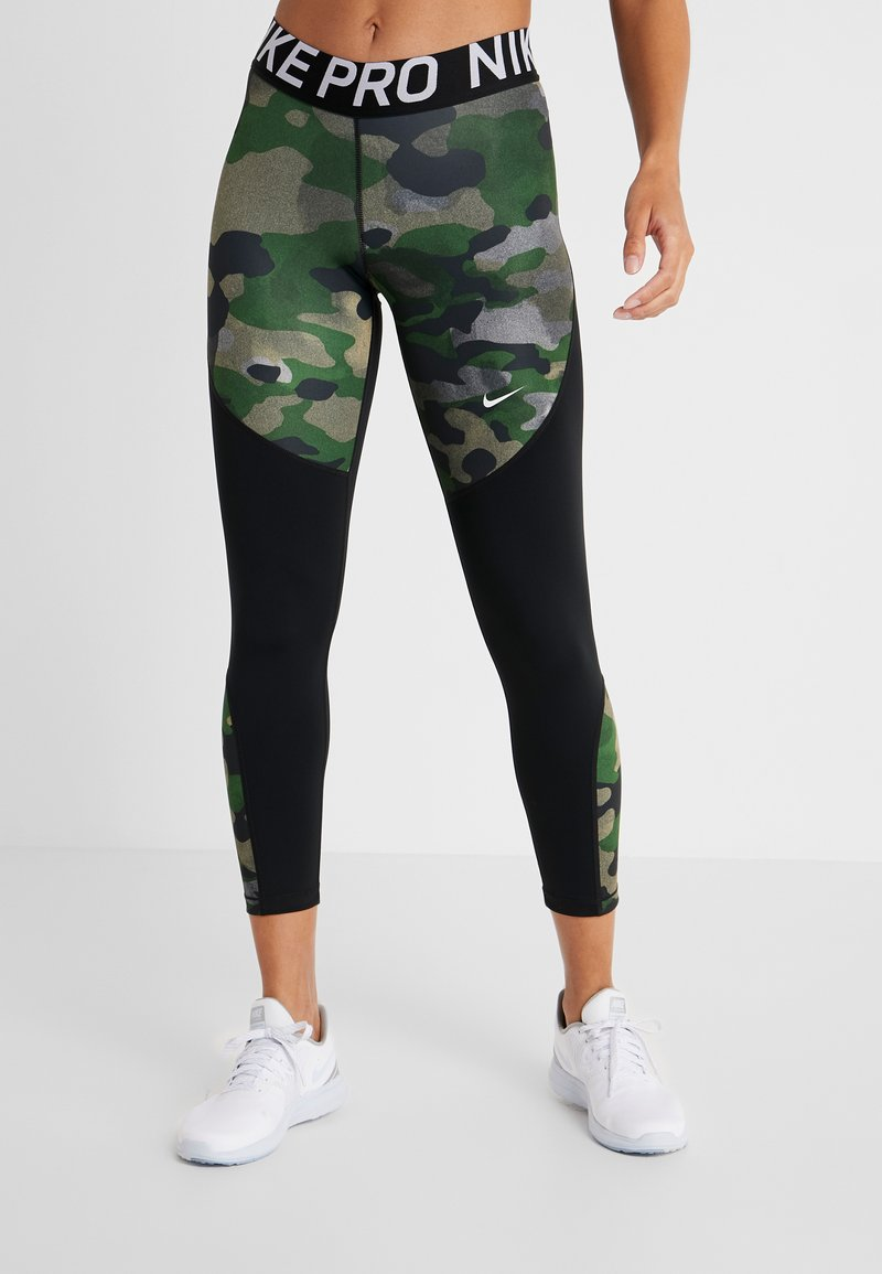 Nike Performance - REBEL 7/8 CAMO - Tights - club gold/black/white