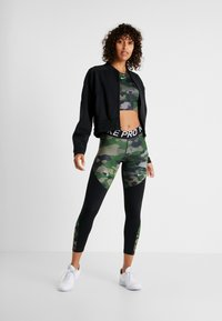Nike Performance - REBEL 7/8 CAMO - Tights - club gold/black/white - 1
