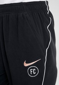 Nike Performance - FC DRY PANT  - Tracksuit bottoms - black/white/rose gold - 5