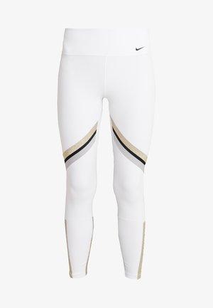 ONE ICON - Leggings - white/metallic gold/black
