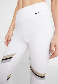 Nike Performance - ONE ICON - Collant - white/metallic gold/black - 3