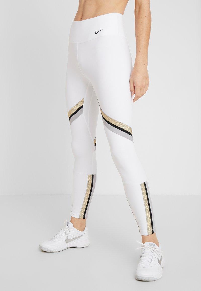 Nike Performance - ONE ICON - Collant - white/metallic gold/black