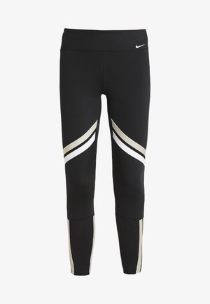 ONE ICON - Leggings - black/metallic gold/white