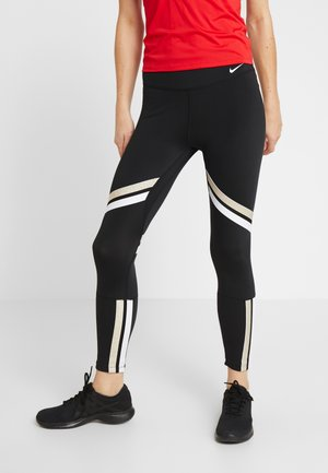 ONE ICON - Tights - black/metallic gold/white