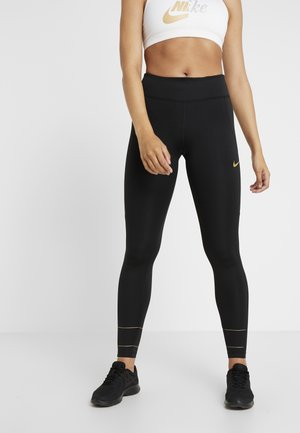 FAST GLAM DUNK - Legginsy - black/metallic gold