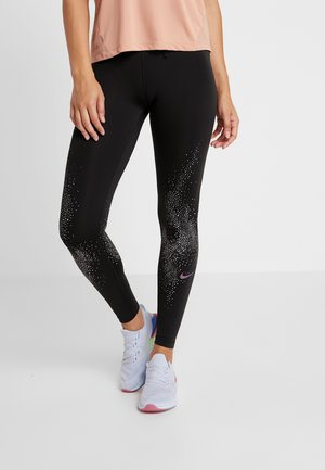 FAST - Legging - black/vivid purple