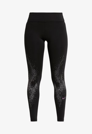FAST - Tights - black/vivid purple