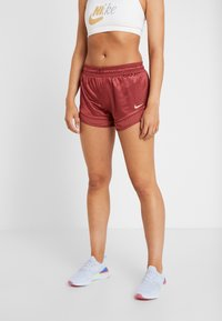 Nike Performance - SHORT GLAM - Sports shorts - cedar/metallic gold - 0