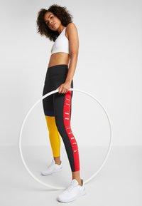 Nike Performance - ONE - Tights - black/university gold/white - 1
