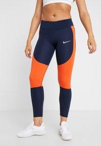 Nike Performance - EPIC LUX - Legginsy - obsidian/team orange/silver - 0