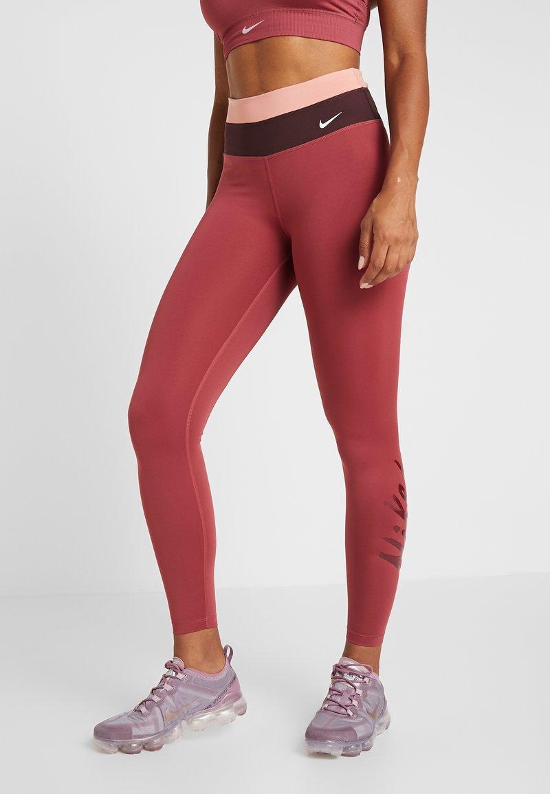 Nike Performance - Tights - cedar/pink quartz/mahogany/white