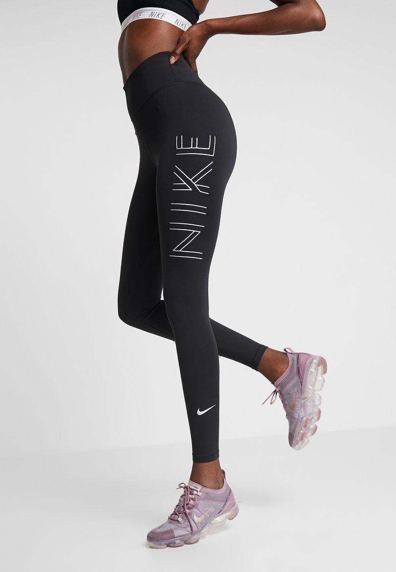Nike Performance - RUN  - Tights - black/metallic silver