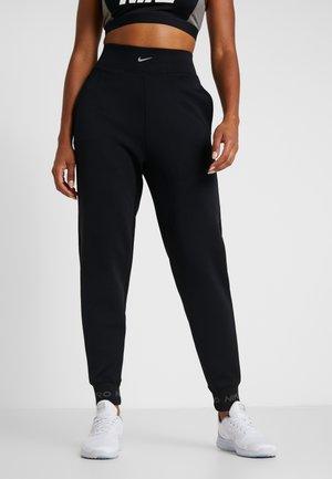 CUFF PANT - Pantaloni sportivi - black/thunder grey/metallic silver