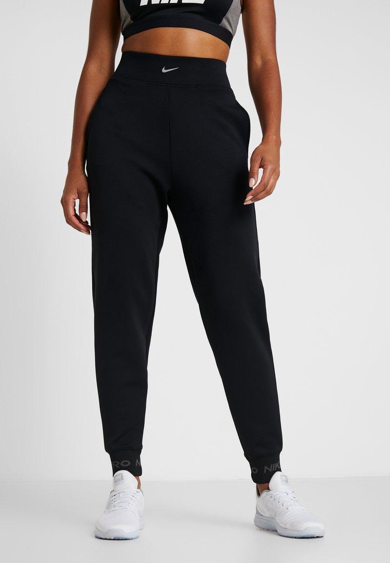 Nike Performance - CUFF PANT - Tracksuit bottoms - black/thunder grey/metallic silver