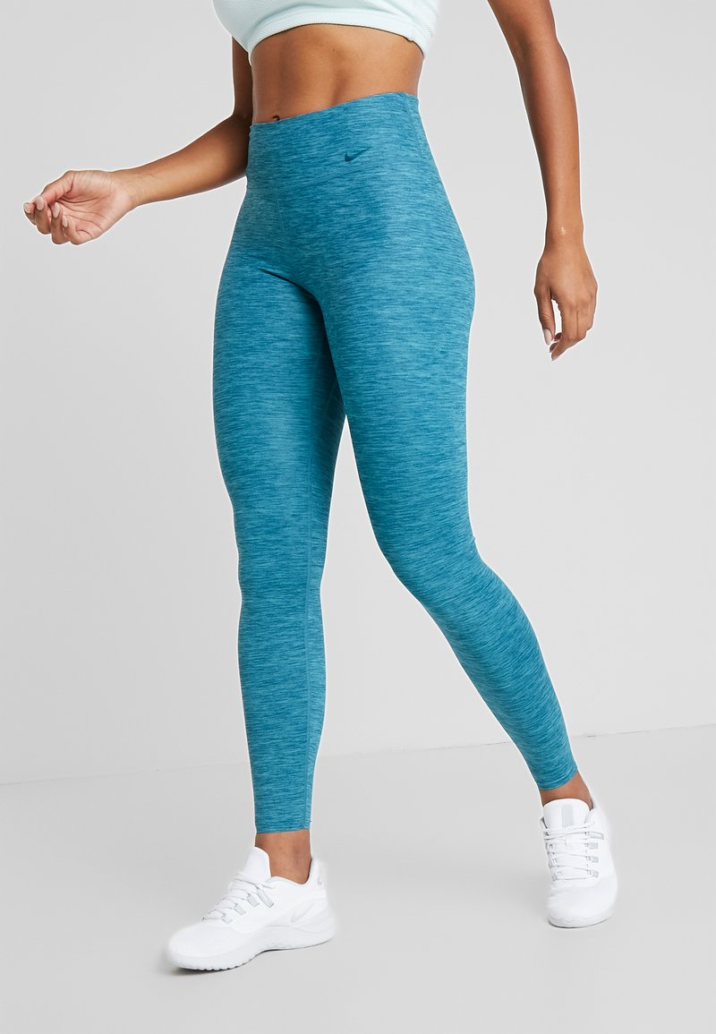 Nike Performance - ONE LUXE - Leggings - midnight turqouise/clear