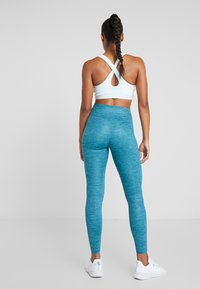 Nike Performance - ONE LUXE - Tights - midnight turqouise/clear - 2