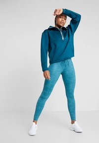 Nike Performance - ONE LUXE - Leggings - midnight turqouise/clear - 1