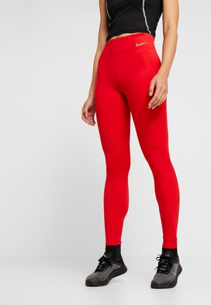 TECHKNIT EPIC - Legging - university red/reflect gold