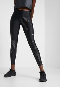 Nike Performance - SPEED - Leggings - black/silver - 0