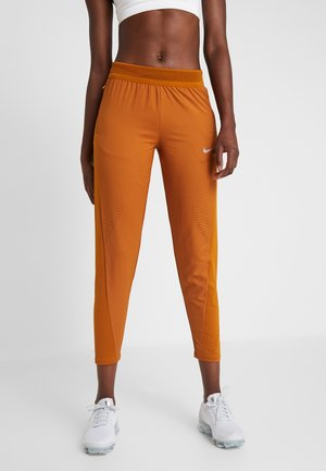 RUN PANT - Tracksuit bottoms - burnt sienna/reflective silver