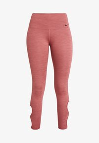 Nike Performance - YOGA  - Legginsy - cedar/heather/light redwood/black