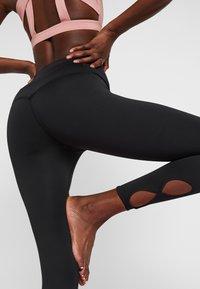 Nike Performance - YOGA  - Legginsy - black/white - 3