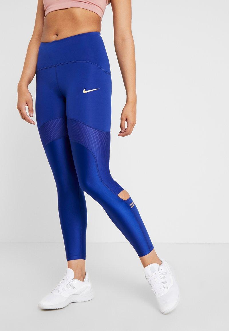 Nike Performance - SPEED GLAM - Legging - deep royal blue/metallic gold