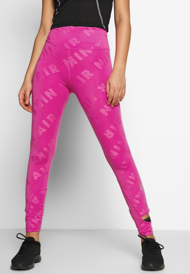 AIR  - Leggings - fire pink/reflective silver