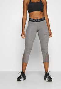 Nike Performance - CROP - Punčochy - gunsmoke/heather/gunsmoke/black - 0