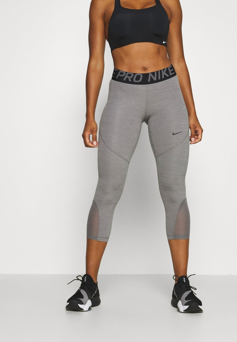 Nike Performance - CROP - Punčochy - gunsmoke/heather/gunsmoke/black