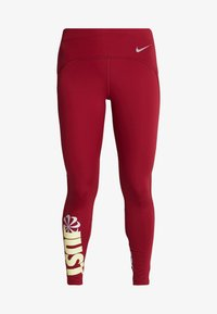 Nike Performance - PEED - Leggings - team red/limelight - 4
