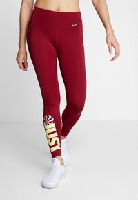 Nike Performance - PEED - Leggings - team red/limelight - 0
