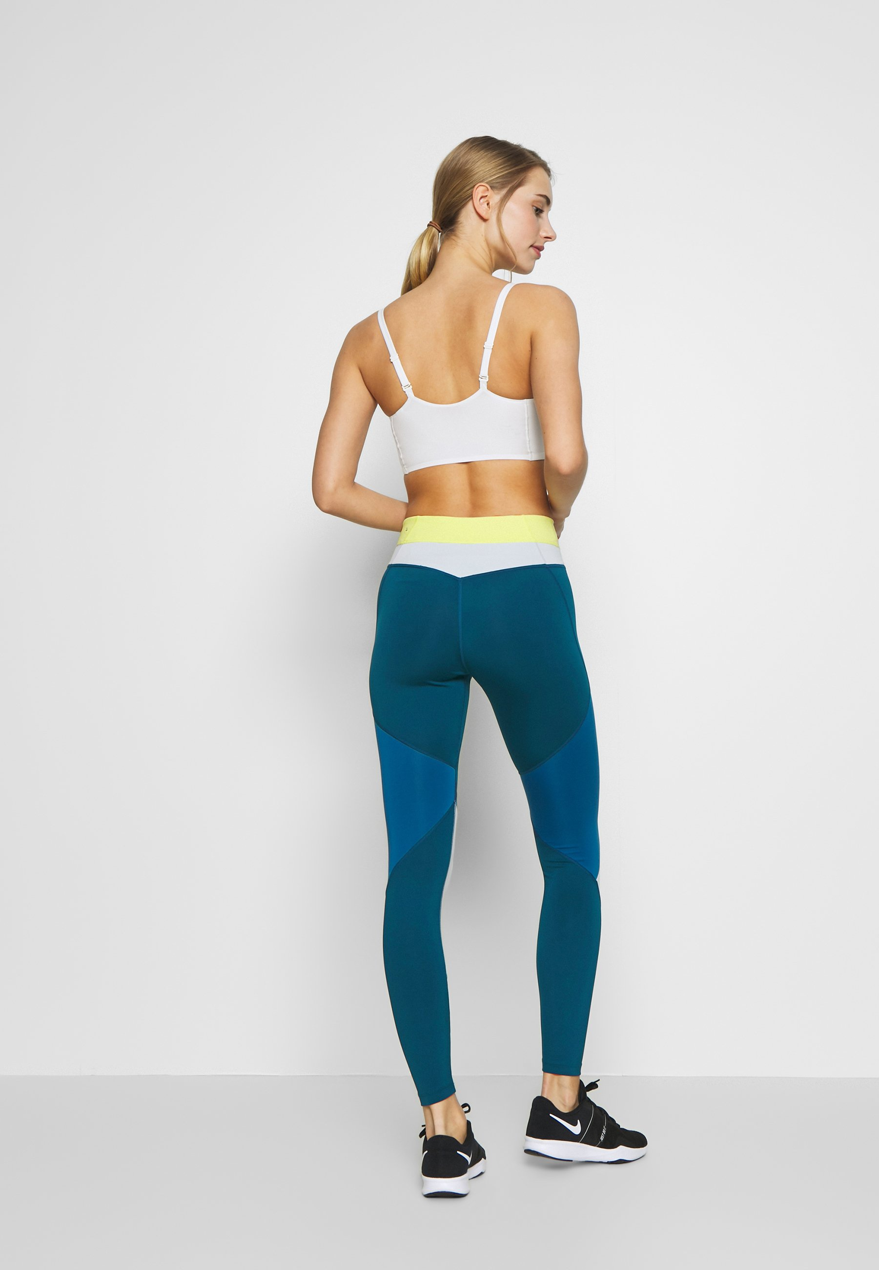 Nike Performance ONE - Legginsy - limelight/valerian blue/aura/black