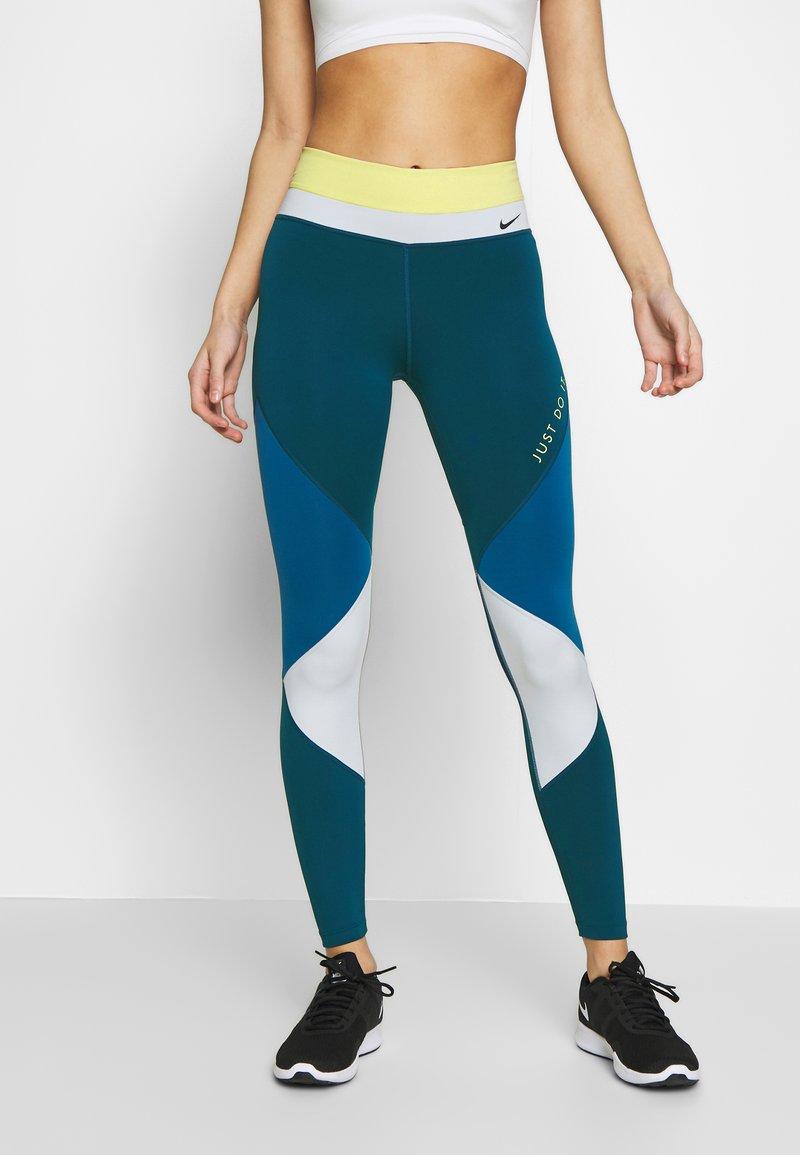 Nike Performance - ONE - Leggings - limelight/valerian blue/aura/black