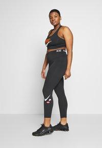 Nike Performance - ONE PLUS - Tights - black/white - 1