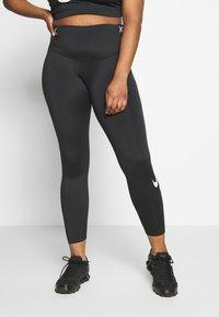 Nike Performance - ONE PLUS - Tights - black/white - 0