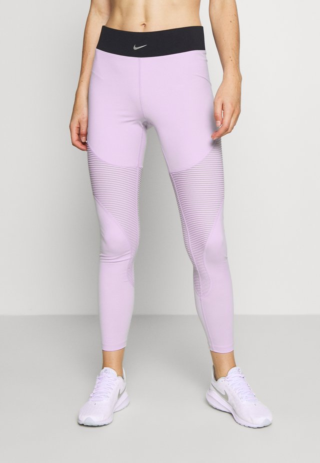 AEROADAPT - Leggings - infinite lilac/black/metallic silver