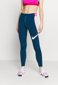 Nike Performance - ICON CLASH  - Leggings - valerian blue/barely rose - 0