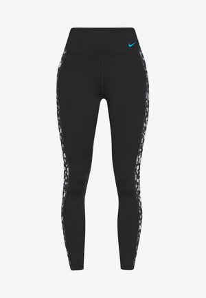ONE DAISY - Legging - black/laser blue