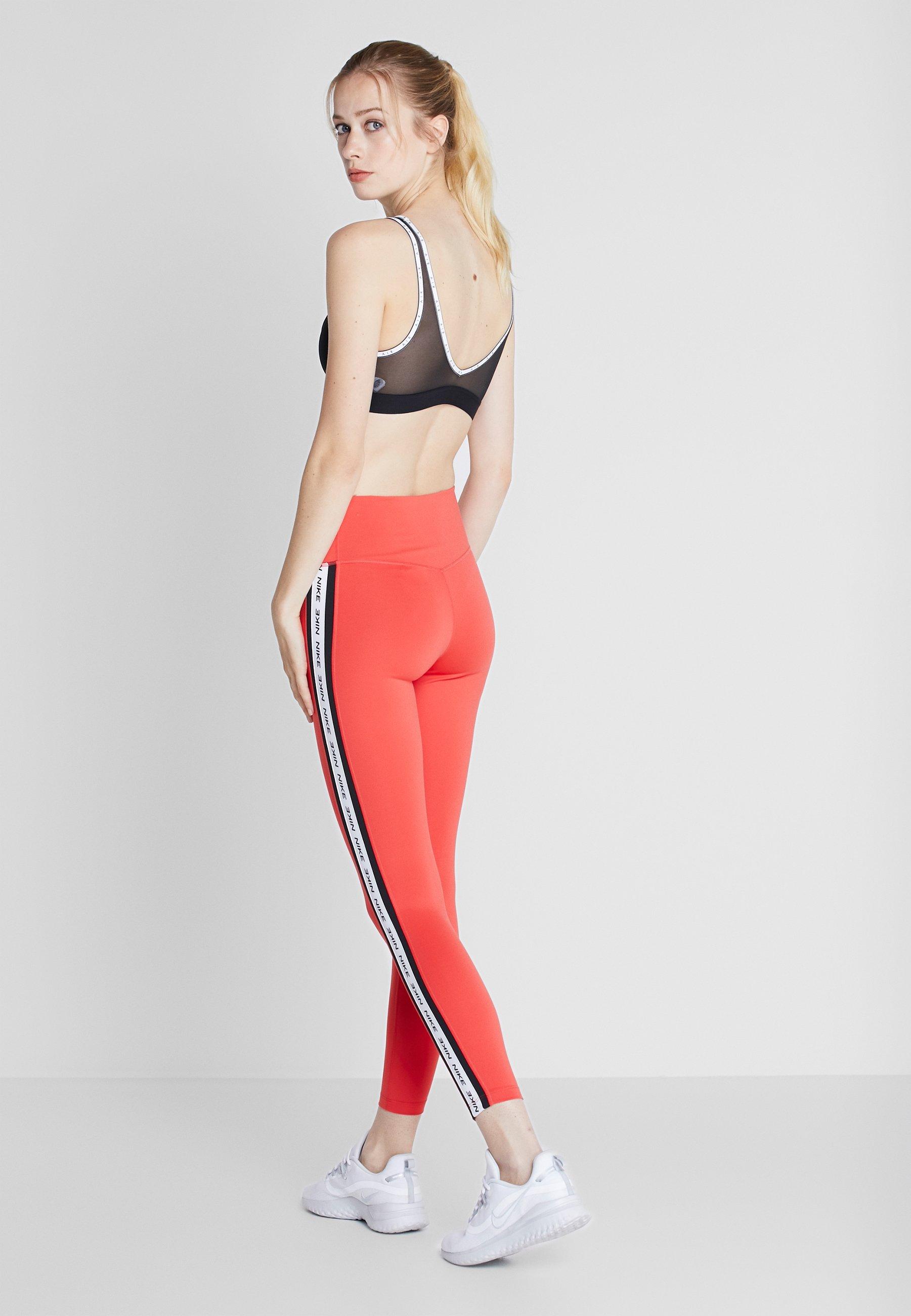Nike Performance ONE - Legginsy - track red/black