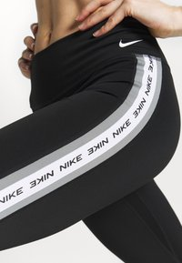 Nike Performance - ONE - Leggings - black/particle grey/white - 3