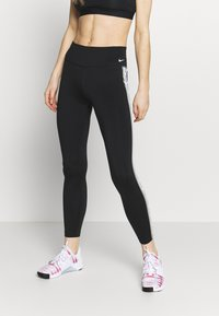 Nike Performance - ONE - Leggings - black/particle grey/white - 0