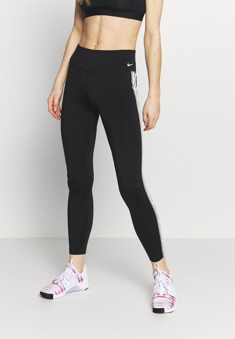 Nike Performance - ONE - Leggings - black/particle grey/white