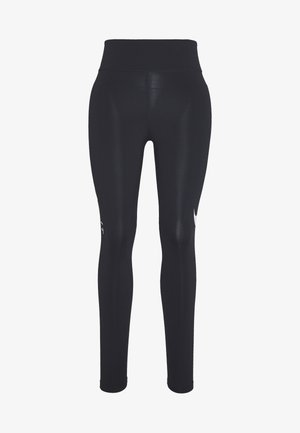 SWOOSH-RUNNING TIGHT  - Leggings - black/reflective silver